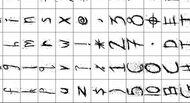 Alphabet numbers brushes