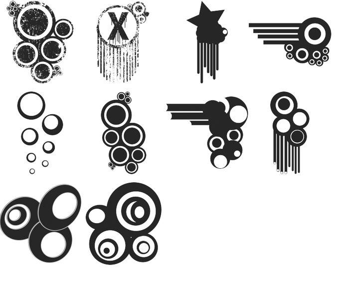 Grungy Vector Brushes