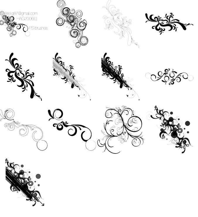 Free Swirl Ps brushes