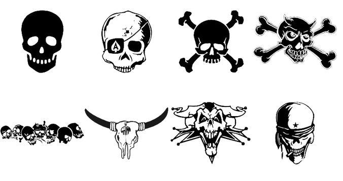 Skull brushes