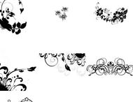 Flowers and foliage brushes