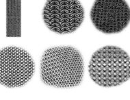 Chain-mail brushes