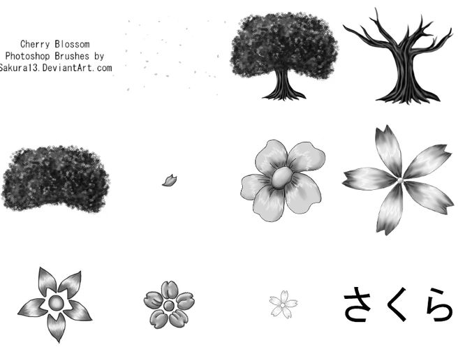 Cherry blossom ps brushes