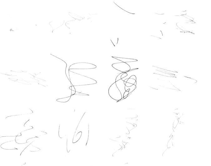 Inky scribbles brush
