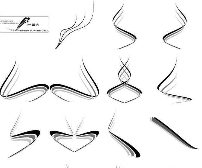 Vector curves brush