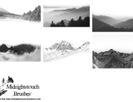 11 Mountain ranges brushes