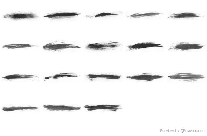 18 Horizontal smudges