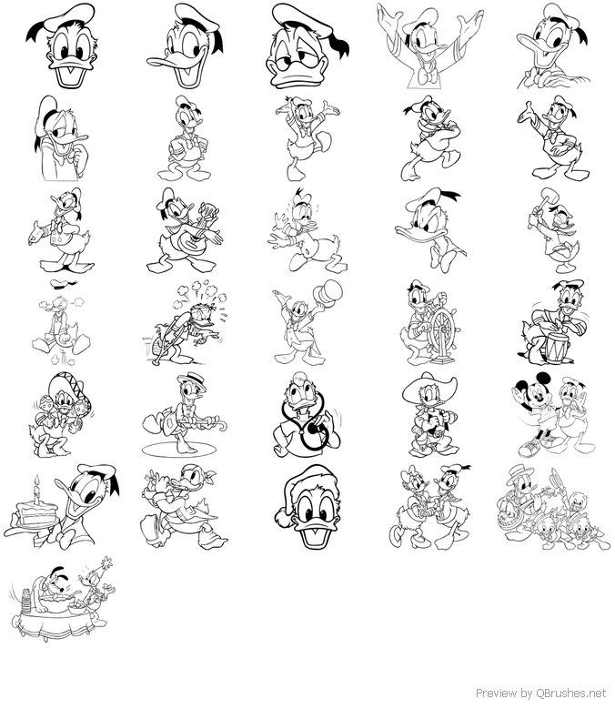 31 Donald outlines brushes