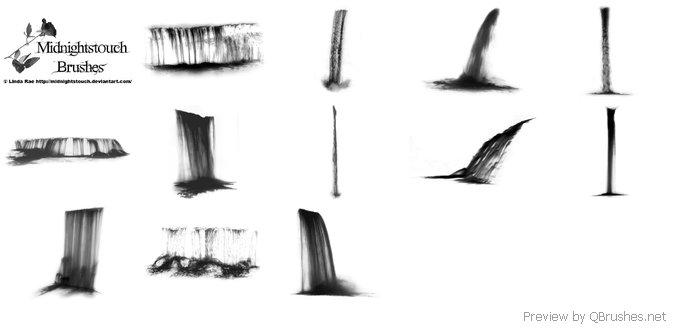 Waterfall brushes