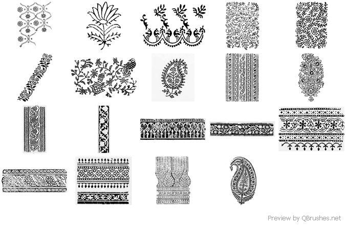Indian Block Print Brushes