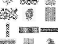 Indian Block Print Brushes