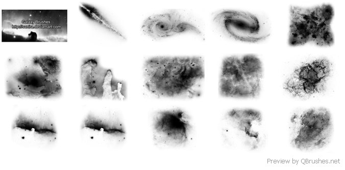15 Galaxies brushes