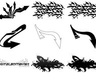 Graffiti arrows brush pack-2