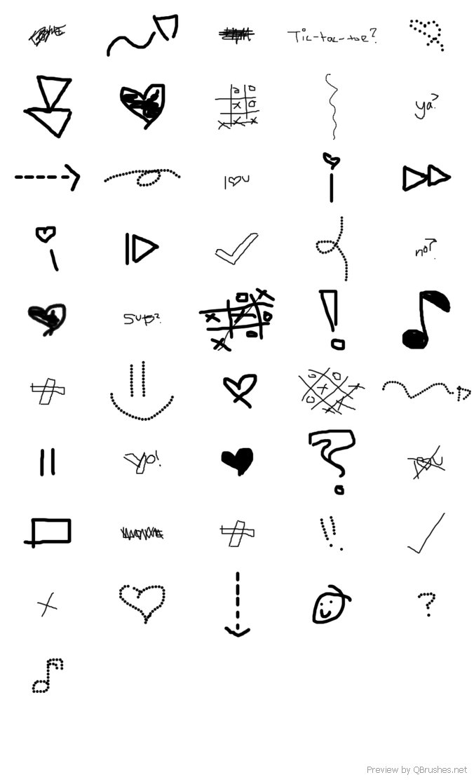 Scribble emoticons brushes