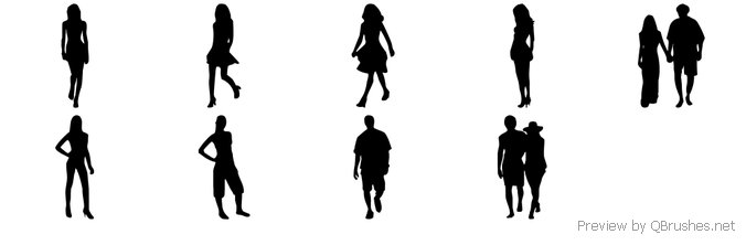 People silhouettes