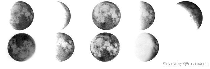 Moon brushes