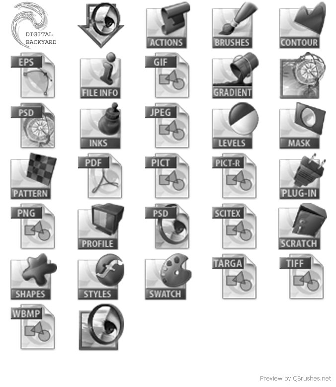 Software icons brush