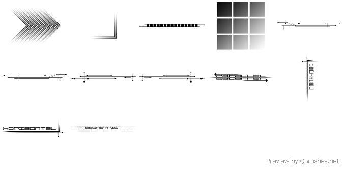 Geometric brush