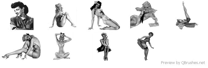 Pinup Girl Brushes 2