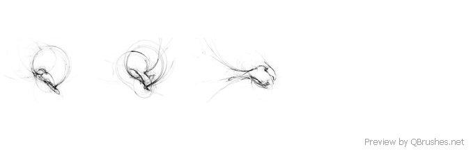 Abstract brush set – 14