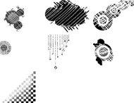 Grunge vector shapes brush