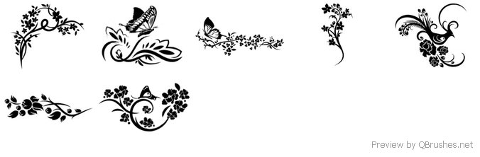 Flower and butterfly Set