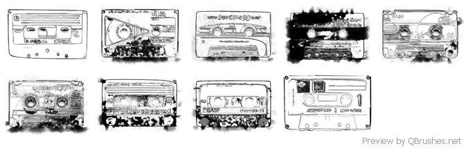 Cassette brushes