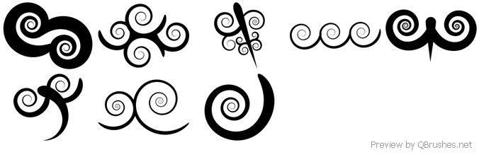 Swirl Photoshop Brushes