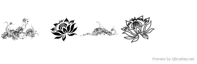 4 Lotus Brushes Download Qbrushesnet