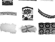 Lace Photoshop brushes