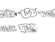 Graffiti Flop Brushes