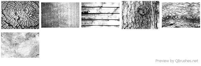 6 Hi-Res wood brushes