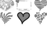 Valentine heart brushes