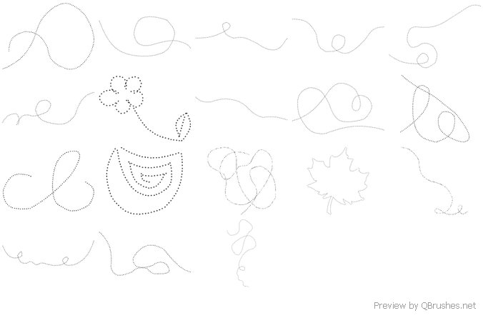 18 Dotsswirls brushes