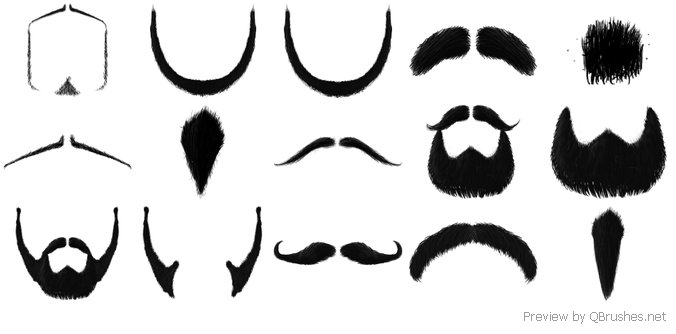 The Moustache Brush set