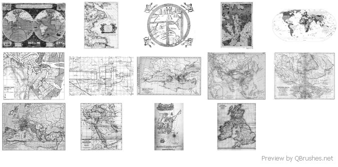 14 High Res Assorted Maps