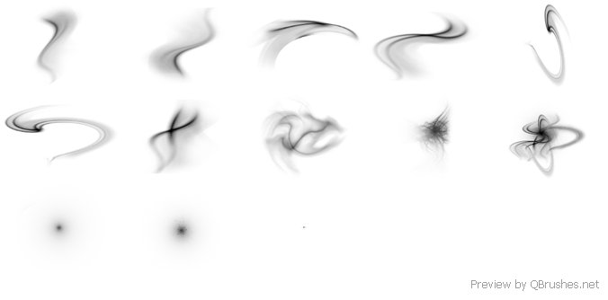 Abstract lighting brush