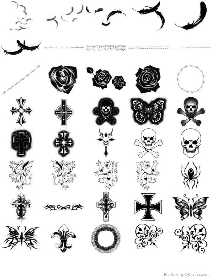 Gothic manga brushes