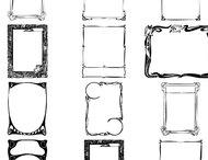 Decorative frames brushes