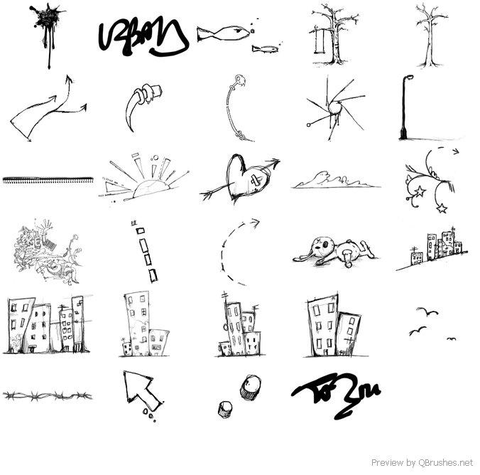 29 Urban scrawl brushes