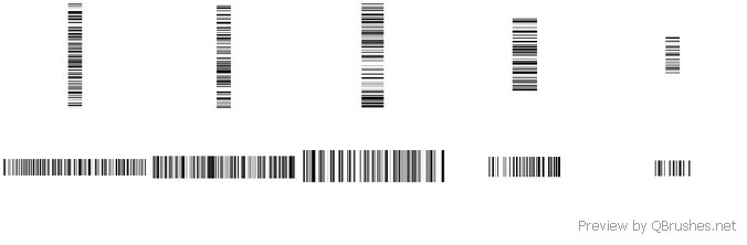 10 Barcodes brushes
