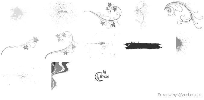 Splatter Swirls and Floral