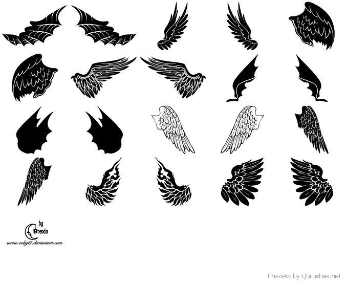Angels Demons Wings