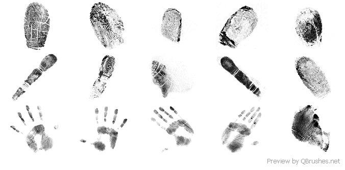 Fingerprints brushes