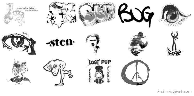 Graffiti brush - Download | Qbrushes net