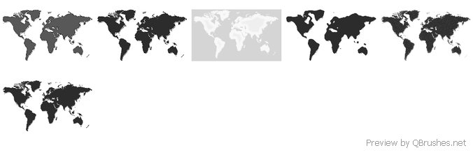 World map brushes