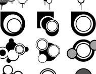 27 Vector circle brushes