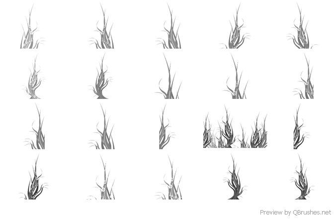 18 Swirl tree brushes