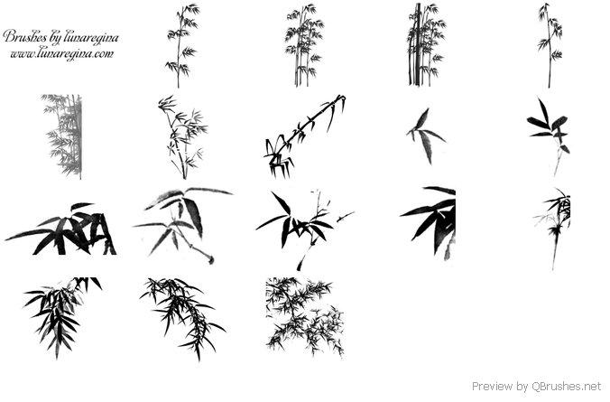 Bamboo leaves brush