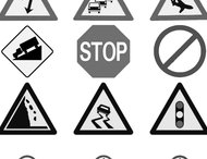 27 Traffic signs brushes